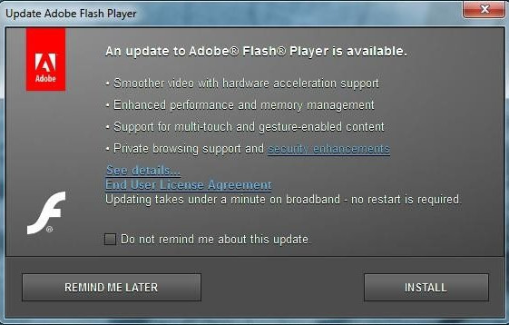 Adobe Flash Player Windows