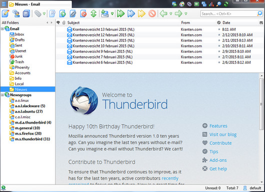 Ücretsiz Mail Yazılımı Thunderbird indir