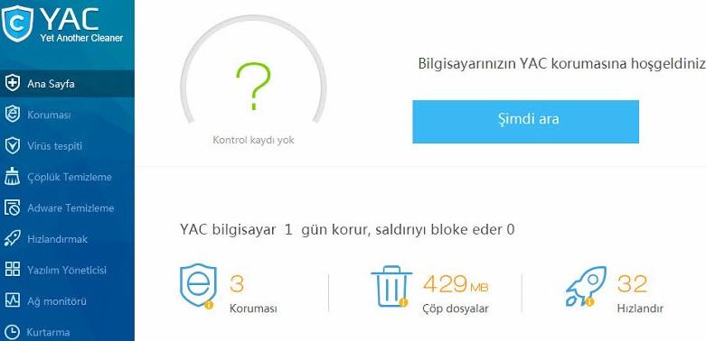 YAC PC Cleaner Ücretsiz indir